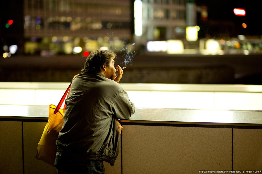 In Shinjuku Smoking by AlchemyAllStars