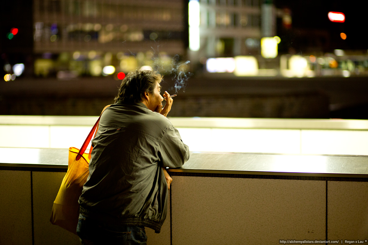 In Shinjuku Smoking by AlchemyAllStars
