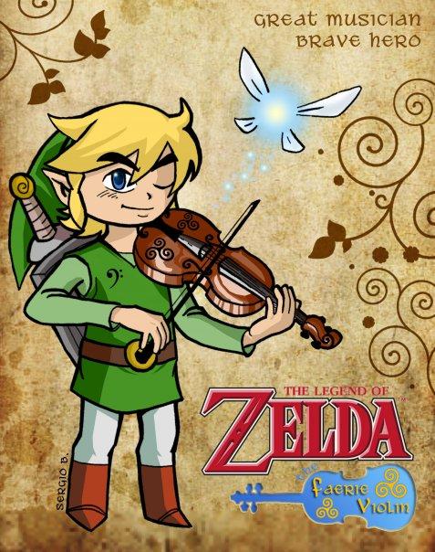TLOZ: Faerie Violin by HeroOfPencil