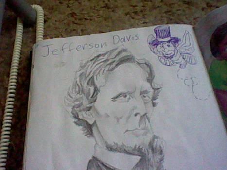 Jefferson Davis looking at Abraham by JustALittleAmerican