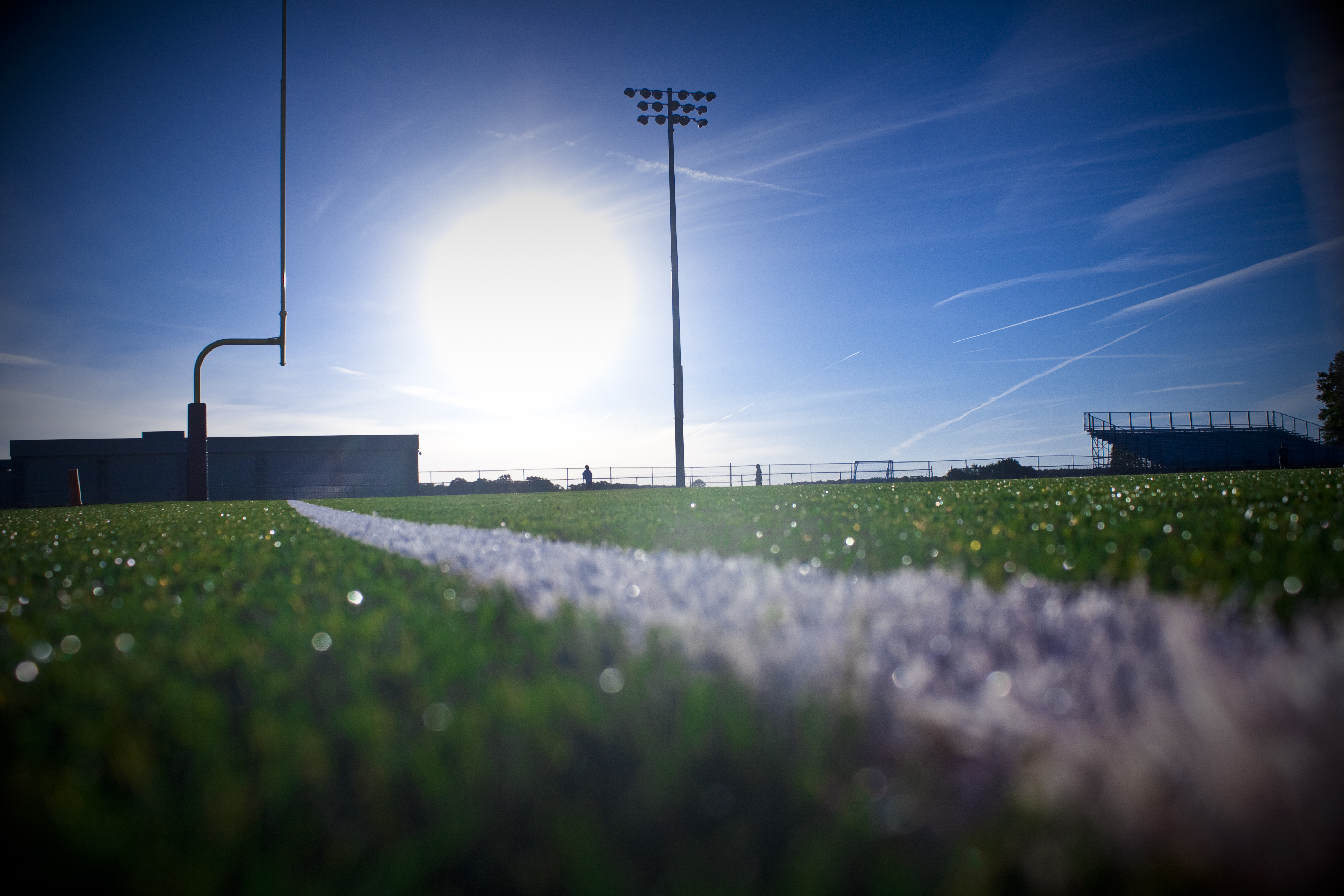 High school football field photography