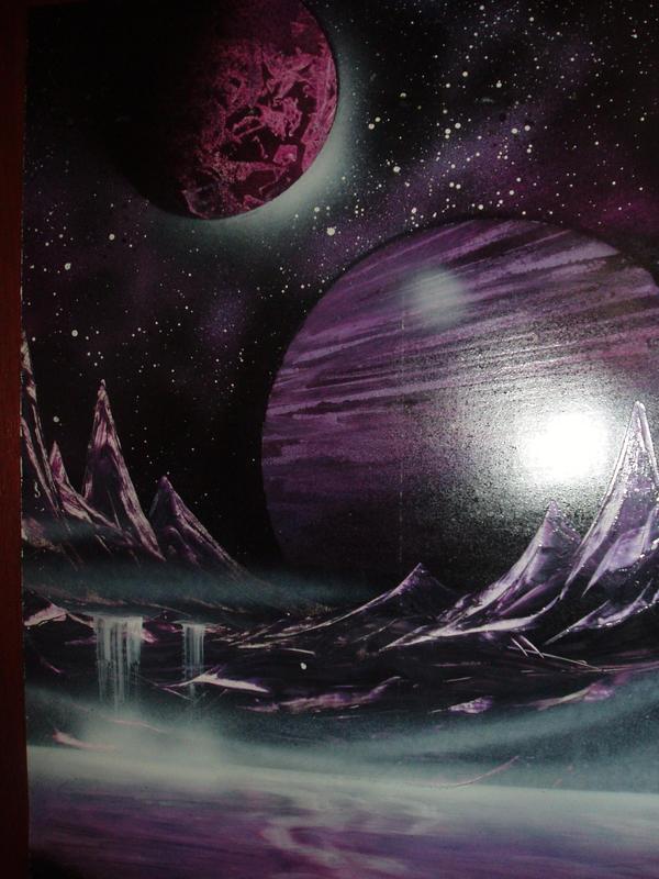 Purple planet landscape by DragionKira on DeviantArt