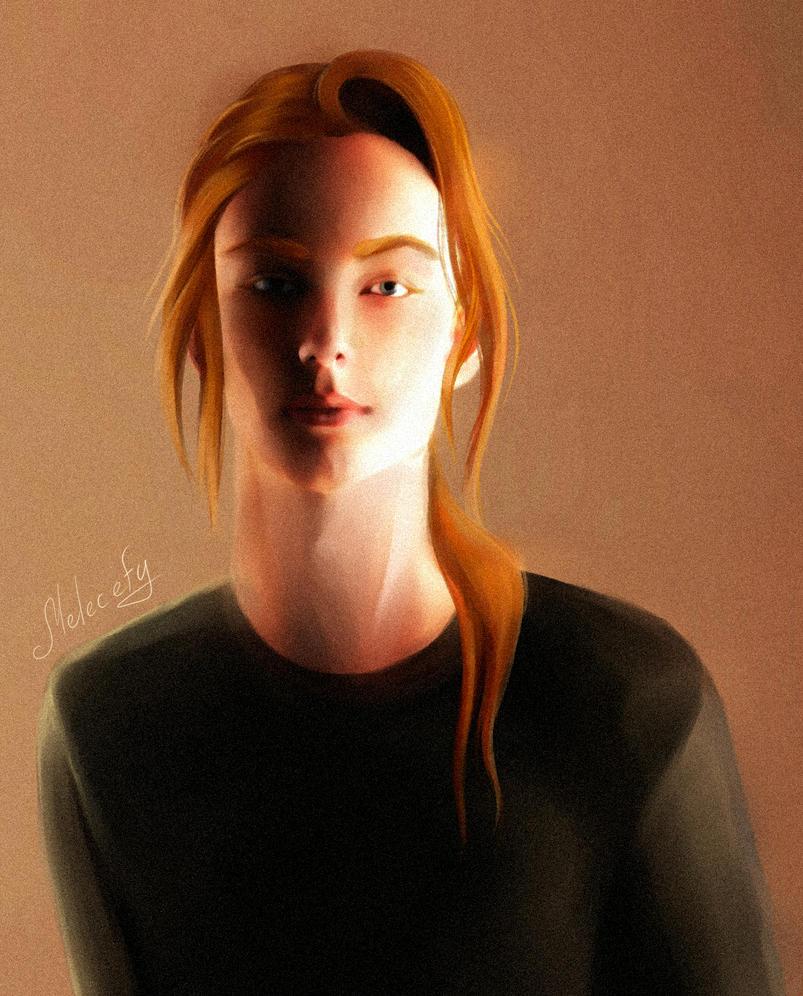 red cyborg 2 by Melecefy