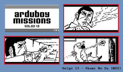 Golgo 13 Arduboy Missions {Concept}