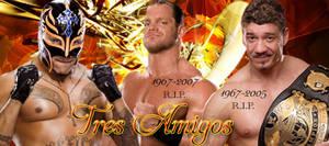 Rey Mysterio, Chris Benoit, Eddie Guerrero banner