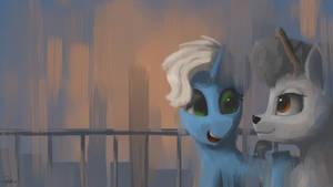 Ponies Walking