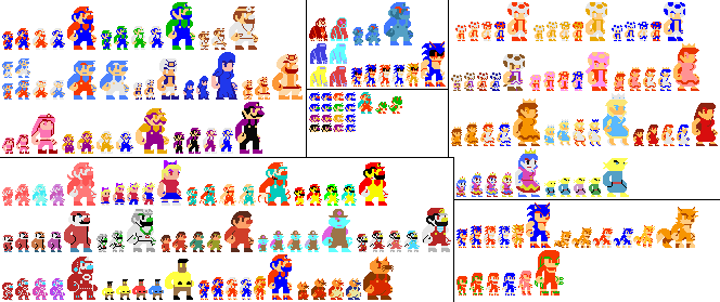 Super Mario Bros Custom Sprites Burdum Style By Artist 4 Hire