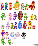 Super Smash Bros. Melee - Sprites by Artist-4-Hire-Fyaro