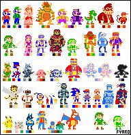 Super Smash Bros. Brawl - Sprites by Artist-4-Hire-Fyaro