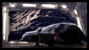 Space debris hangar