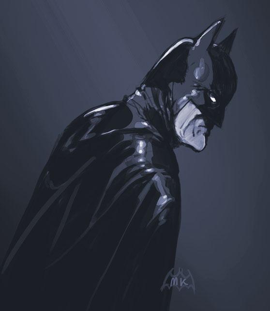 Batman in blue by MK01