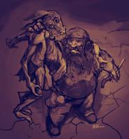 Dwarf vs Kobold by MK01