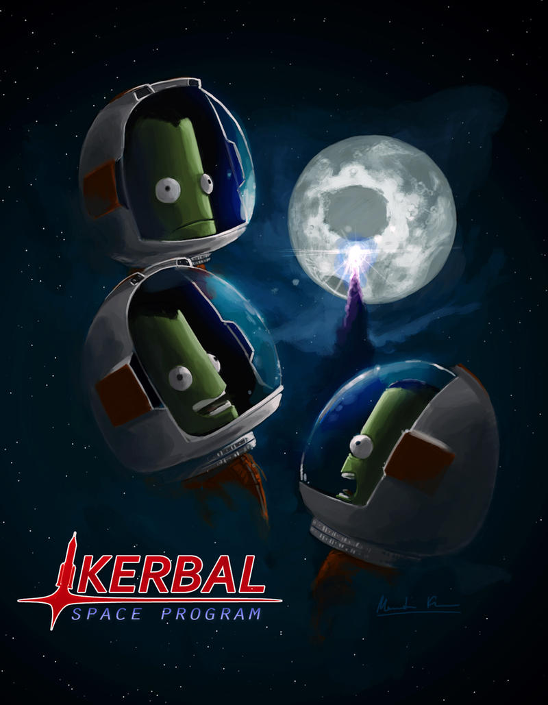 Three Kerbal Mun by MK01