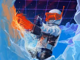 Orange Transparent Chainsaw by MK01