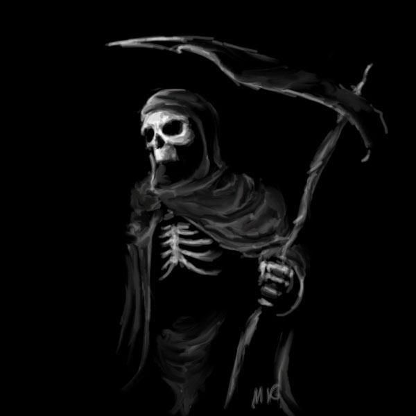 The Reaper by MK01 on ... Cool Grim Reaper Drawings