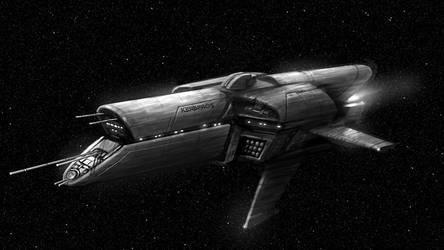Starship Concept - Kerberos by MK01