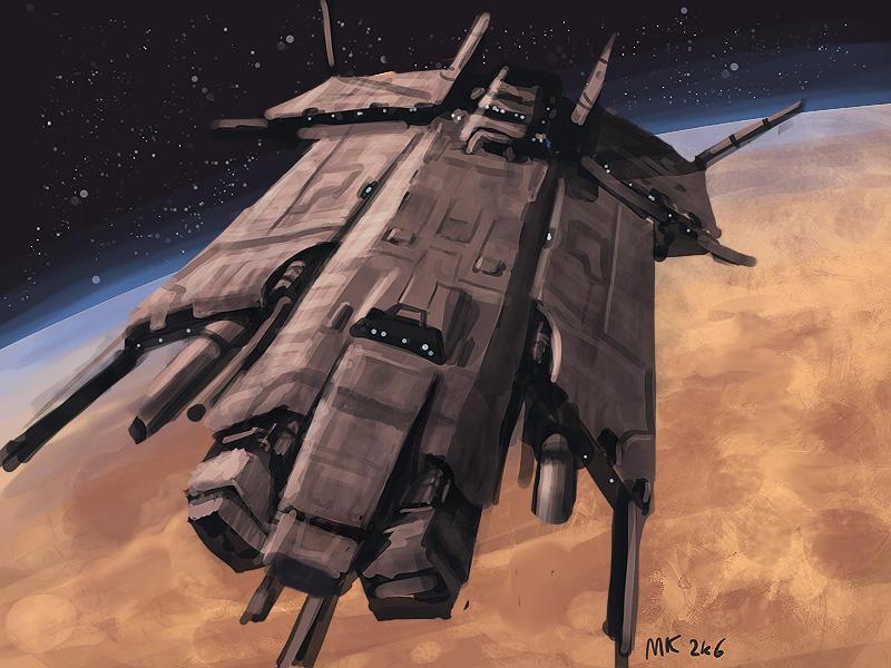 Speedpaint: Starship by MK01