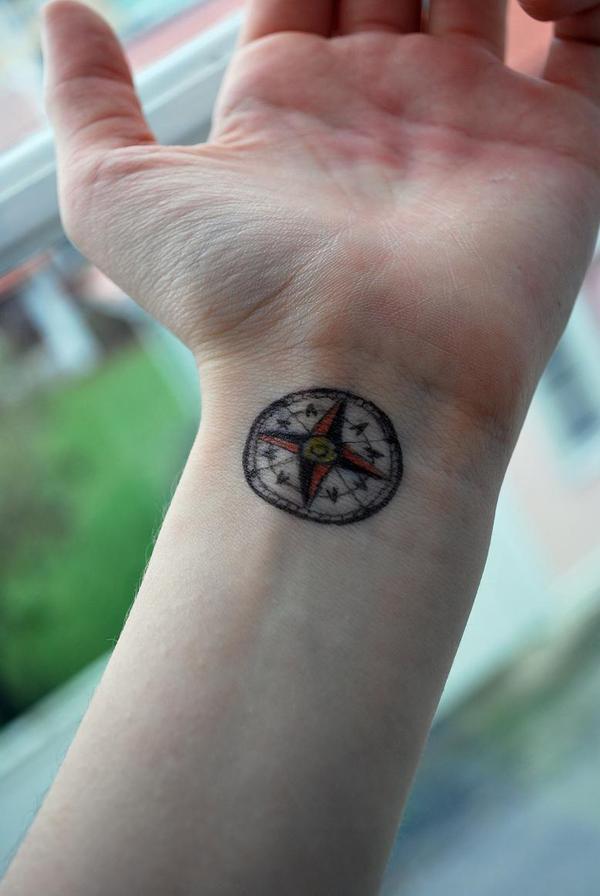 Samuel Sullivan Compass Tattoo