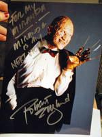 Robert Englund signed photo