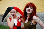 Poison Ivy and Harley Quinn