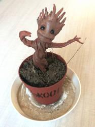 Baby Groot Sculpture