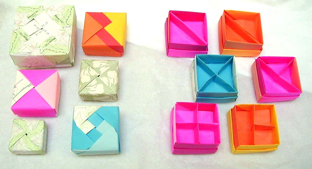 more origami boxes + dividers by wombat1138