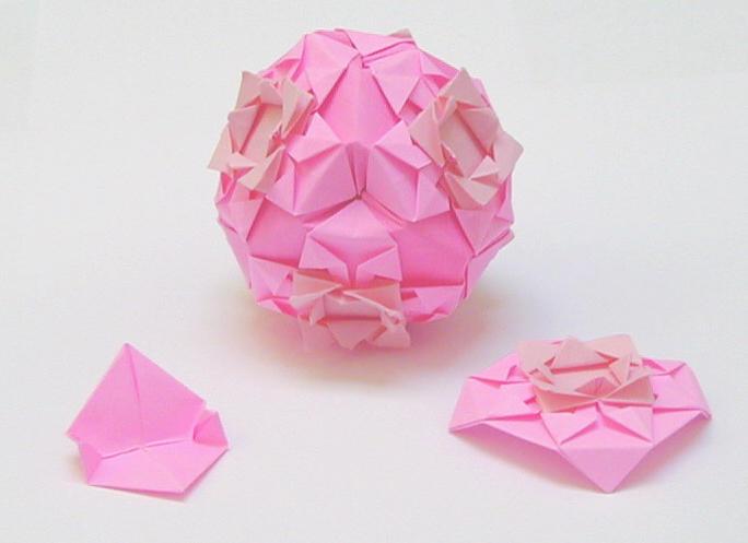 Rosette-octagon kusudama by wombat1138