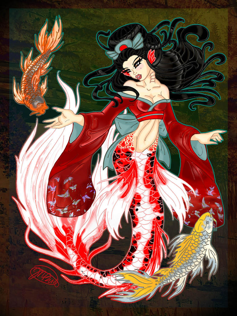 Butterfly koi mermaid by nikkibeeshive on deviantart for Koi fish tail