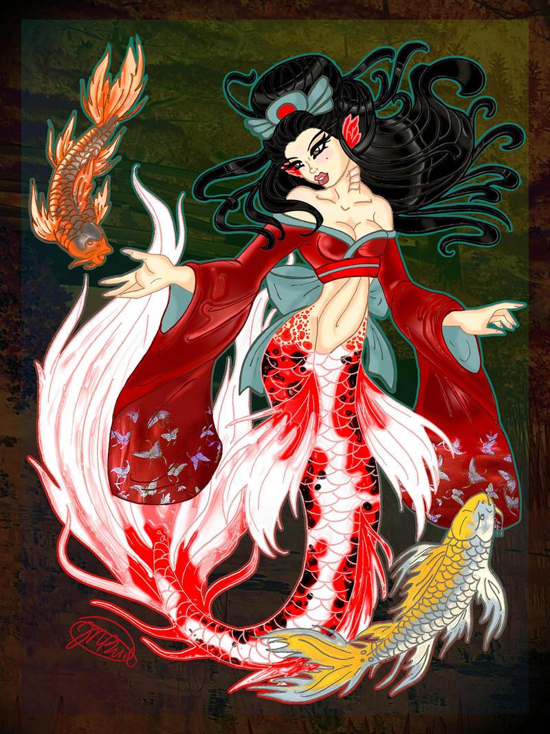 Butterfly Koi Mermaid By NikkiBeesHive