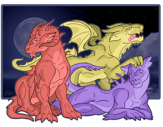 Gargbeasts: Aries, Arthur and Minerva by NikkiBeesHive