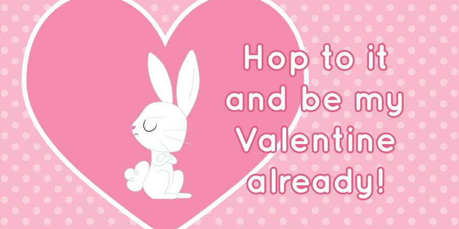 Angel Bunny Valentine's Day Card by Happbee