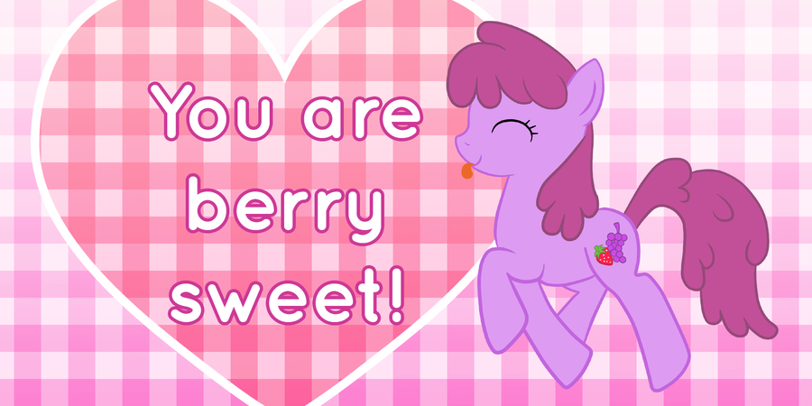Berry Punch Valentine's Day Card by Happbee
