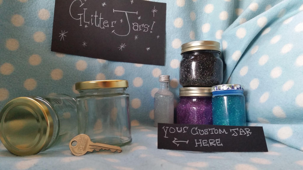 ~ ~ CUSTOM GLITTER JARS ~ ~ [OPEN] by LaydeeKaze