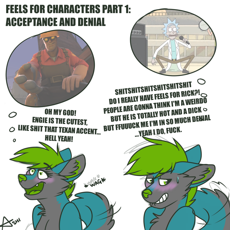 Feels for Characters Part 1: Acceptance and Denial by LaydeeKaze