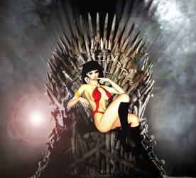Vampy Halloween on the Iron Throne by theflamingskull