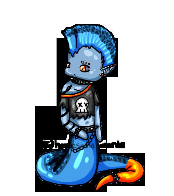 Blue Coral Snake Naga Boy By Hoovesandswords On DeviantArt