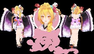 [MMD] TDA Pretty Kimono Neru (DL) by HeyMisaki-chan