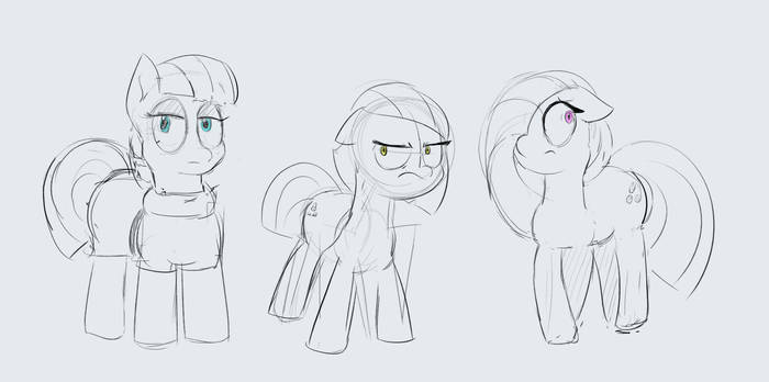Pie Sisters Sketch by baratus93