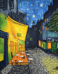 Cafe Terrace at Night by shmemcat
