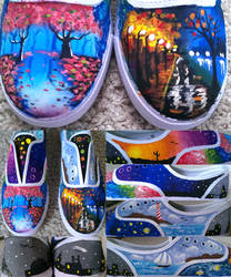 Painted Shoes by shmemcat