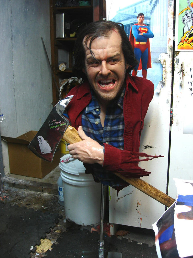 Jack Nicholson , the shinning by BobbyC1225
