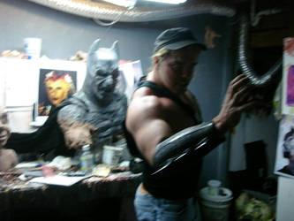 demon Batman pose by BobbyC1225
