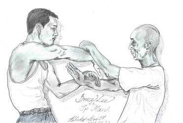 Bruce Lee .vs. Ip Man by patakilorant