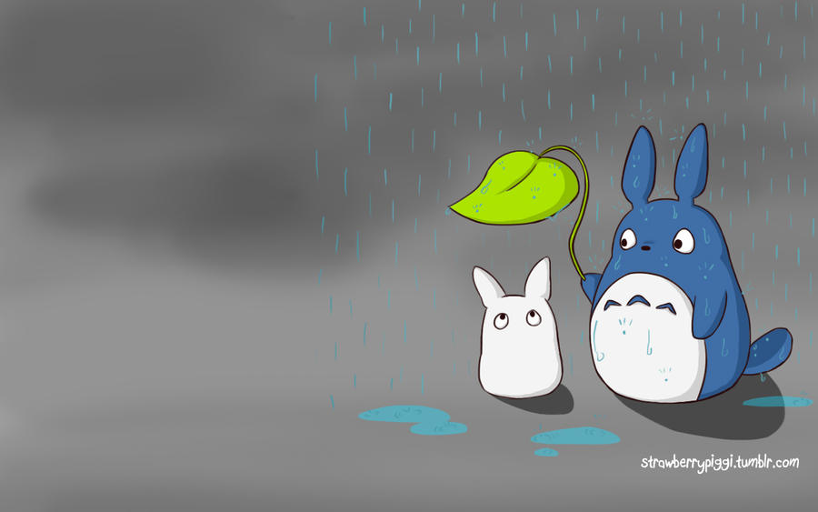 Totoro Wallpaper by chloefaith on DeviantArt