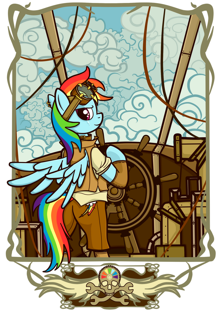 Airship Pirate by NoReasonToHope