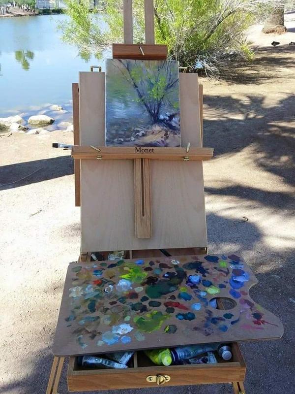 Plein air painting at Papago Park, AZ by Ravenhaven