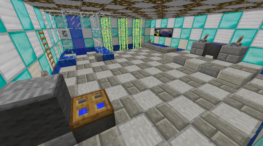 Minecraft Bathroom by Awajuk