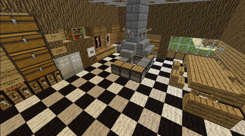 Minecraft kitchen by awajuk on deviantart for Kitchen ideas minecraft