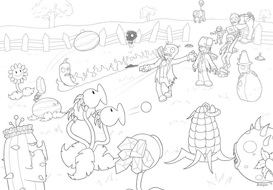 Sunflower Plants Vs Zombies 2 further Plants Vs Zombies Coloring Pages ...