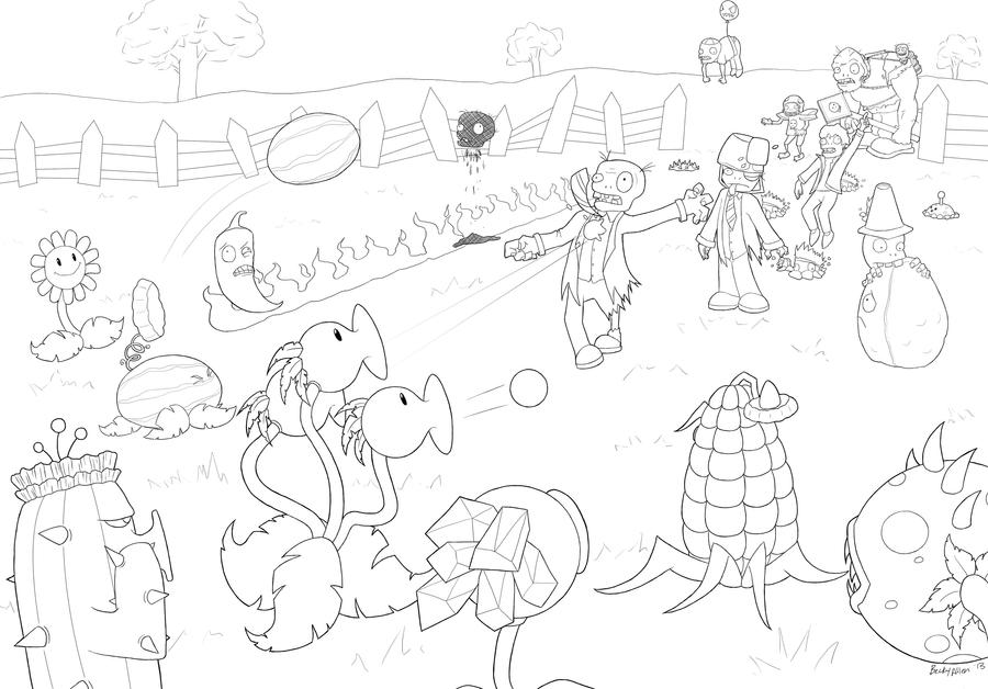 pvz garden warfare coloring pages - photo#24